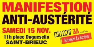 manif15nov 300x152 Manifestation anti austérité du 15 Novembre